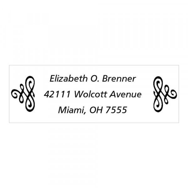Monogrammstempel rechteckig - Ausgefallene Familienadresse