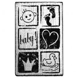 Vintage Stamp Baby