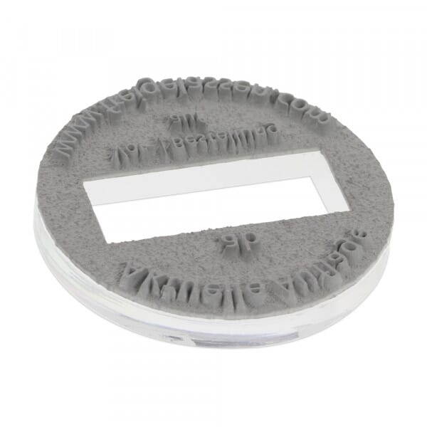 Textplatte für Trodat Professional 54045 - Dm. 40 mm - 3 + 3 Zeilen inkl. Ersatzkissen