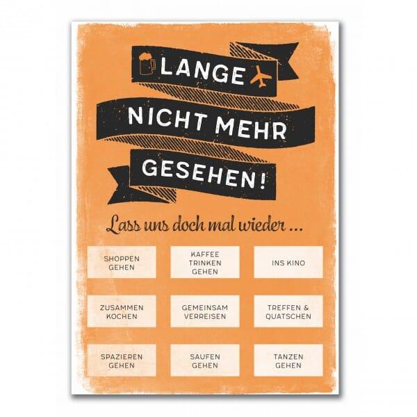Rubbel-Postkarte - Lange nicht mehr gesehen !