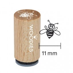 Mini Woodies Stempel - fleissige Biene
