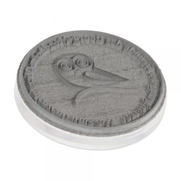 Textplatte für Colop Pocket Stamp R 25 (ø 25 mm - 4 Zeilen)