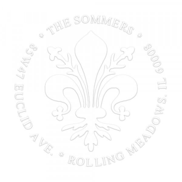 Monogramm-Prägezange rund - Lilien