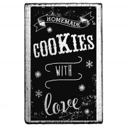 Vintage Stamp Homemade cookies with love