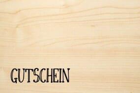 Holzgrusskarte - Sonstige - Gutschein