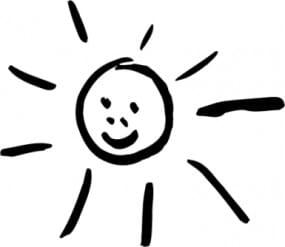Perma Stempel Holzstempel - Sonne