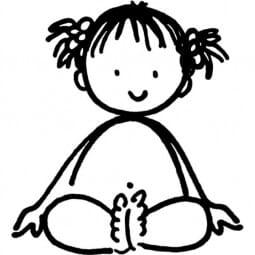 ALADINE Holzstempel - Kleines Mädchen Romane