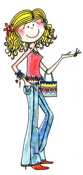 Penny Black Holzstempel - Lady mit Jeans