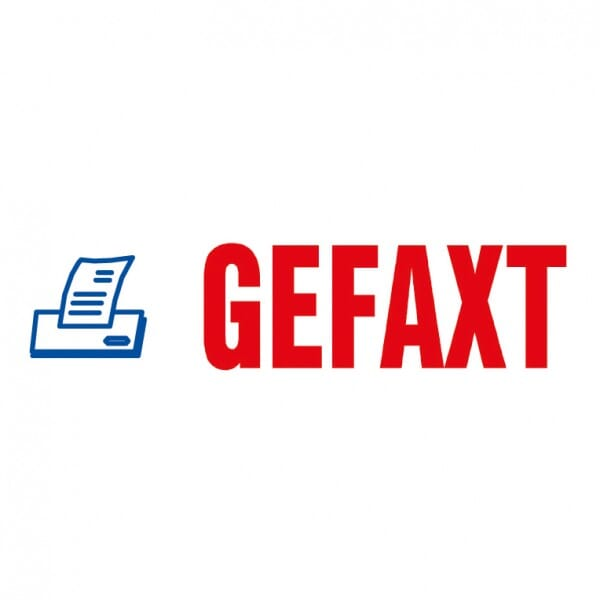 "Trodat Office Printy Textstempel ""Gefaxt"""