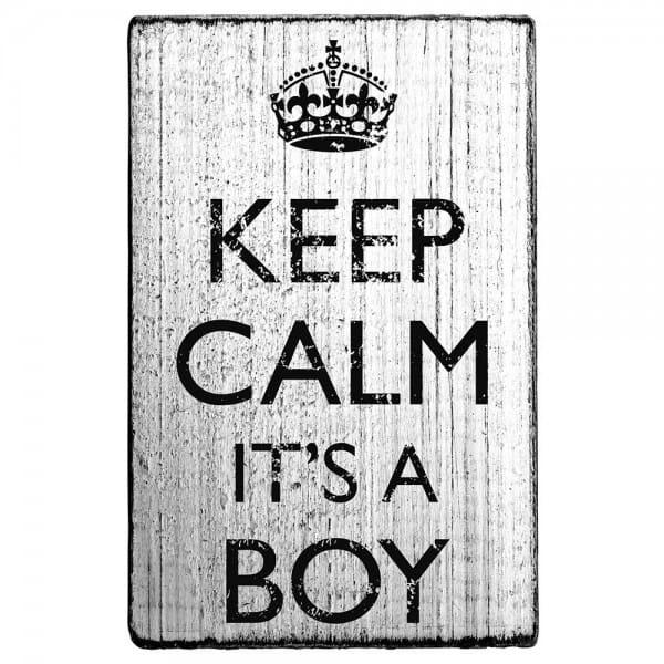 Vintage Stamp Keep calm it's a boy