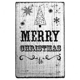 Vintage Stamp Merry Christmas (Tannenbaum)