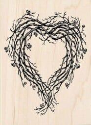 Dimensions Holzstempel - Herzkranz