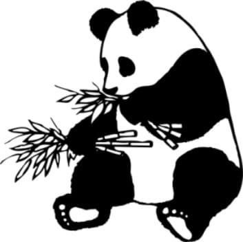 Perma Stempel Holzstempel - Panda