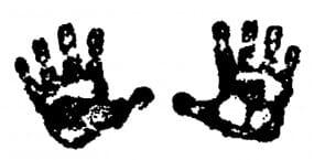 Perma Stempel Holzstempel - Kleine Hände