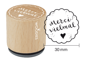 Woodies Stempel - Merci vielmal