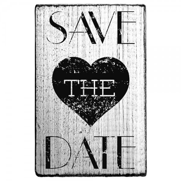 Vintage Stamp Save the date (Herz)