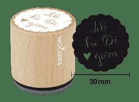Woodies Stempel - Ich ha Di gärn