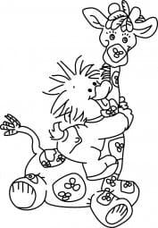 Perma Stempel Holzstempel - Giraff mit Entli