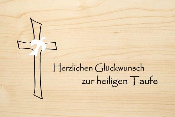 Holzgrusskarte Taufe Herzlichen Glückwunsch Zur Heiligen Taufe