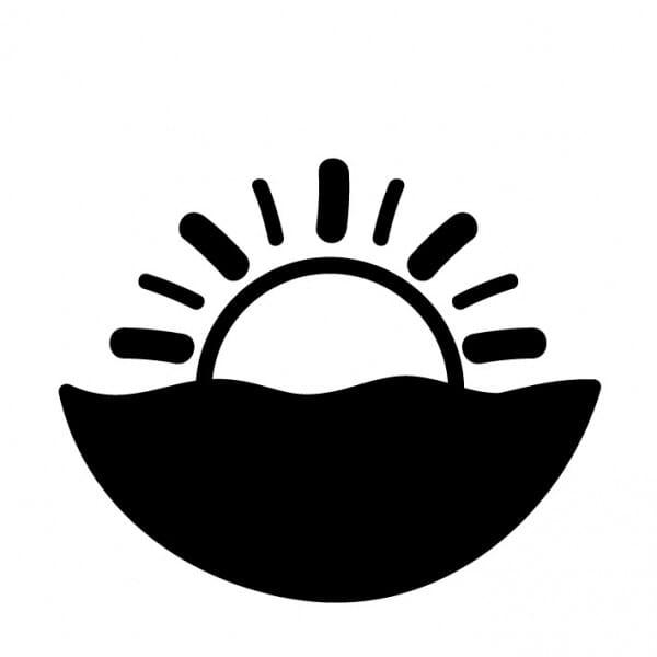 Stemplino Ministempel Sonnenuntergang Meer
