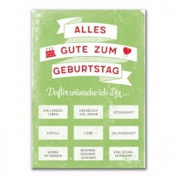 Rubbel-Postkarte - Alles Gute zum Geburtstag