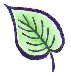 Perma Stempel Holzstempel - Kleines Blatt