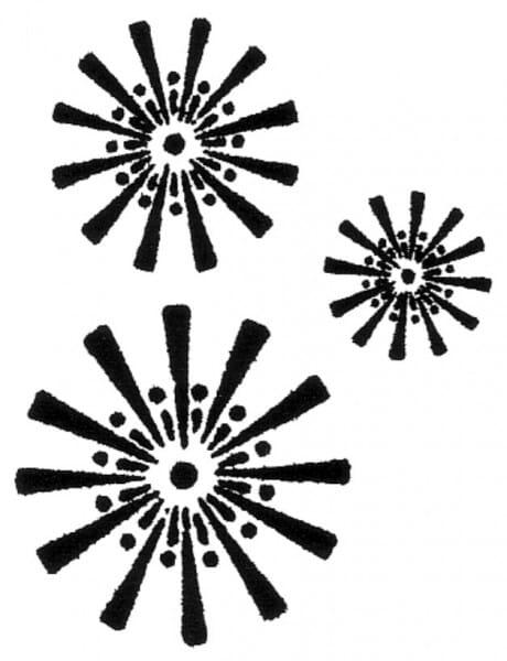 Penny Black Holzstempel - Blumenmuster