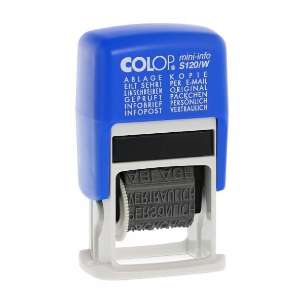 Colop Mini-Info S 120/W (21x4 mm) Deutsch