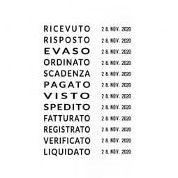 Trodat Professional Datumstempel 5117 mit Wortband Italienisch