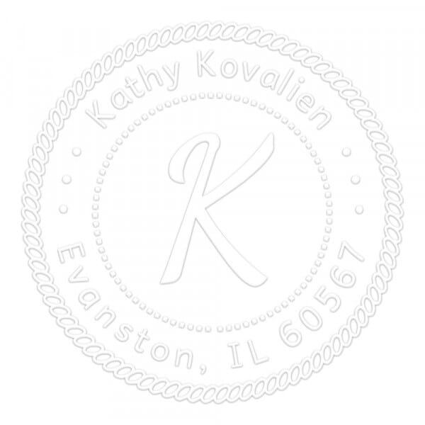 Monogramm-Prägezange rund - Maritime Dekoration