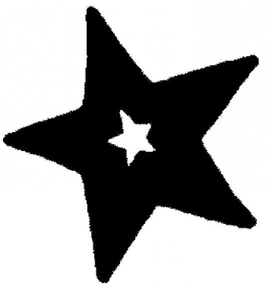 Perma Stempel Holzstempel - Stern (Design 4)