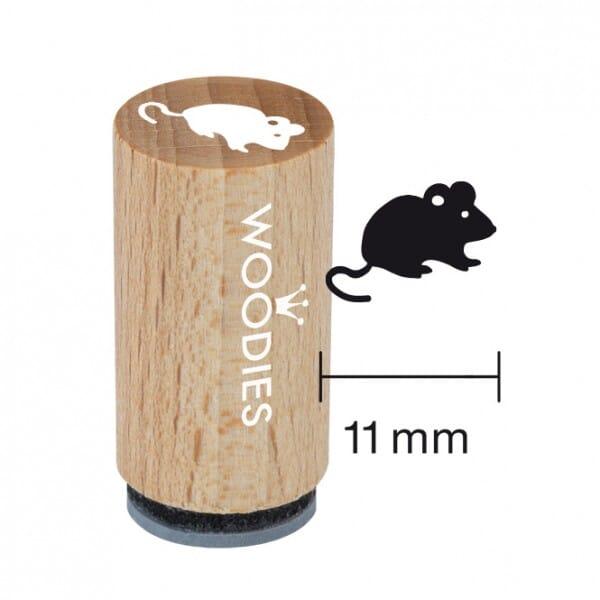 Mini Woodies Stempel - Maus