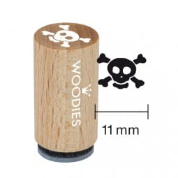 Mini Woodies Stempel - Totenkopf