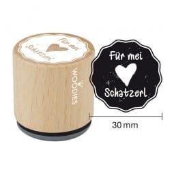 Woodies Stempel - Für mei Schatzl