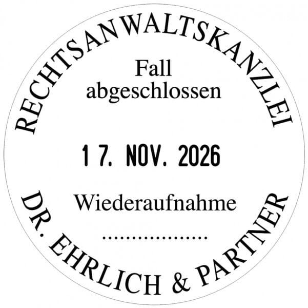 Trodat Printy Datumstempel rund 46140 - Dm. 40 mm - 3 + 3 Zeilen