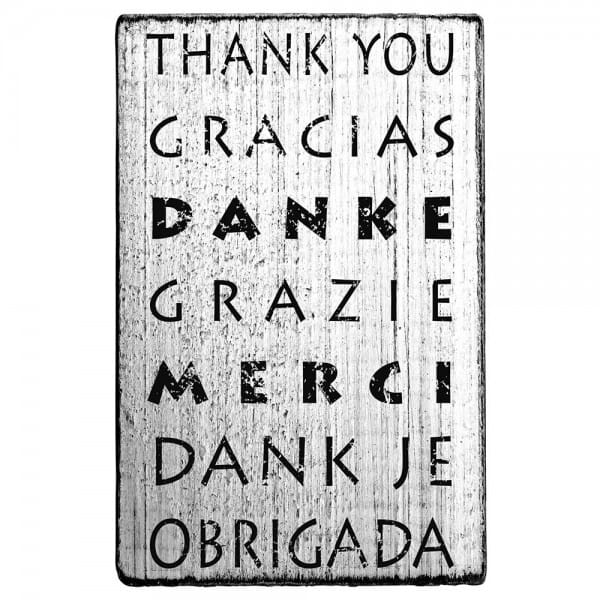 Vintage Stamp Thank you Gracias Danke Grazie