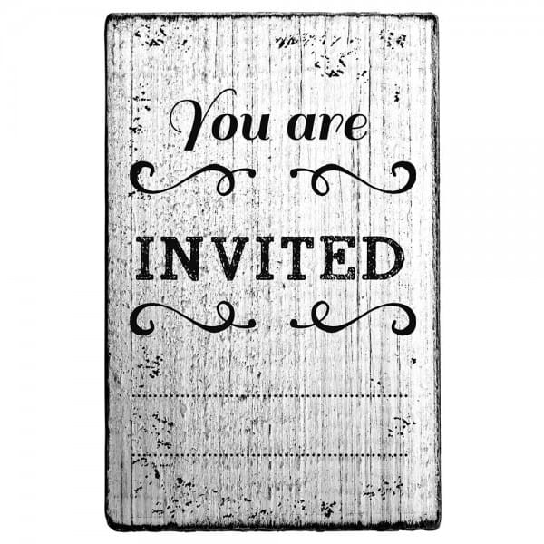 Vintage Stamp You are invited