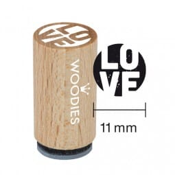 Mini Woodies Stempel - Love