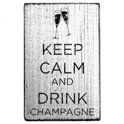 Vintage Stamp Keep calm and drink champagne