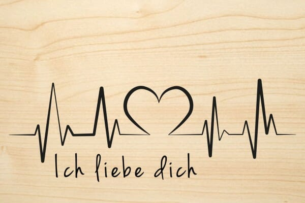 Holzgrusskarte - Liebe - Ich liebe dich | stempel-versand.ch