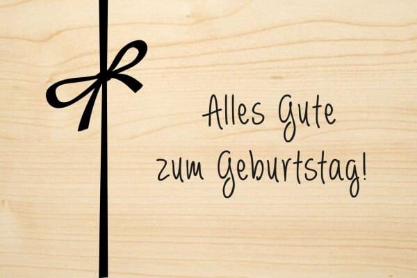 Holzgrusskarte - Geburtstag - Alles Gute zum Geburtstag!