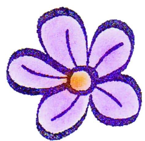 Perma Stempel Holzstempel - Kleine Blume