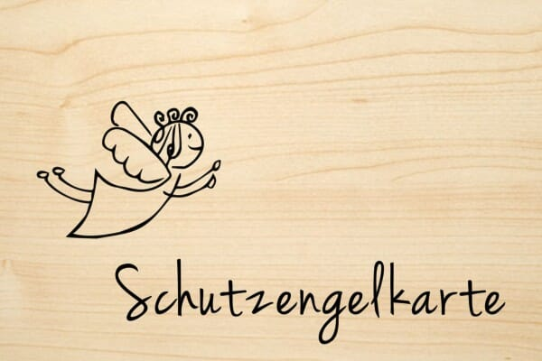 Holzgrusskarte - Sonstige - Schutzengelkarte. Engel abgebildet.