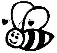 Perma Stempel Holzstempel - Biene