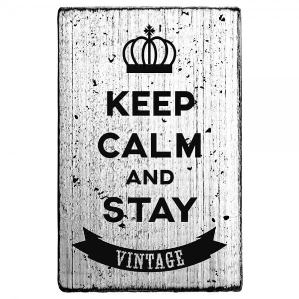 Vintage Stamp Keep calm and stay