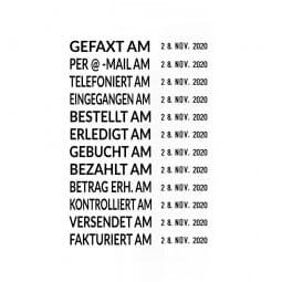Trodat Printy Datumstempel 4817 mit Wortband Deutsch