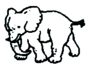 Perma Stempel Holzstempel - Elefant