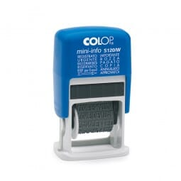 Colop Mini-Info S 120/W (21x4 mm) Italienisch