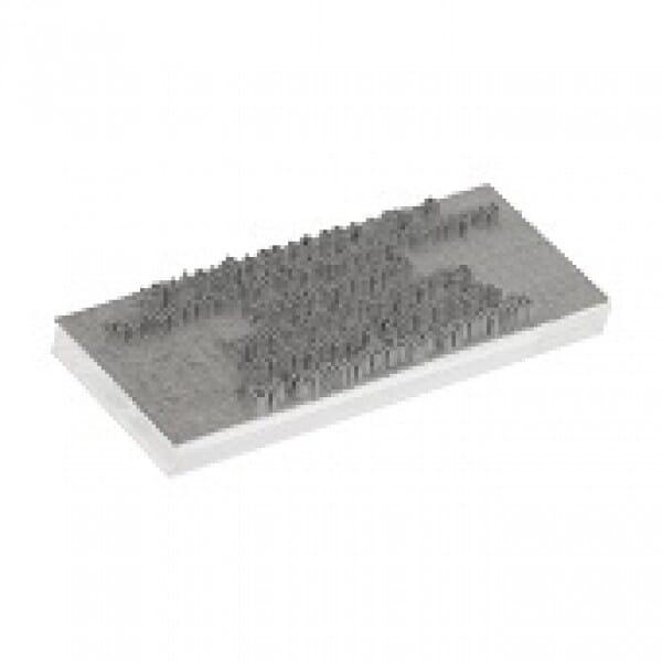 Textplatte für Trodat Printy 4918 - 75 x 15 mm - 2 Zeilen inkl. Ersatzkissen