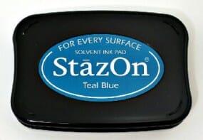 Tsukineko - Teal Blue Stazon Stempelkissen